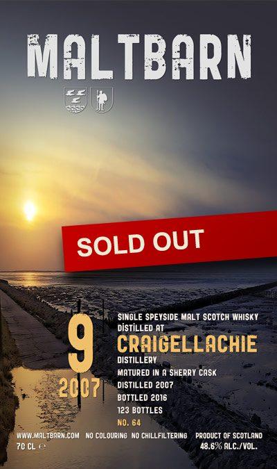 Maltbarn 64 – Craigellachie 9 Years