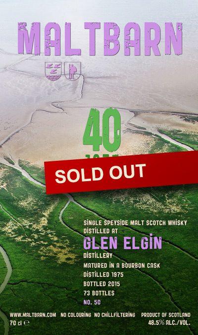 Maltbarn 50 – Glen Elgin 40 Years