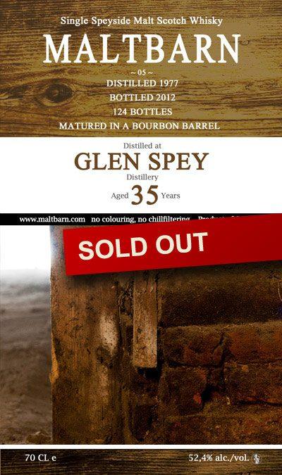 Maltbarn 05 – Glen Spey 35 Years