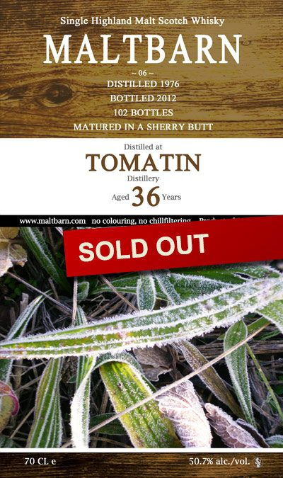 Maltbarn 06 – Tomatin 36 Years
