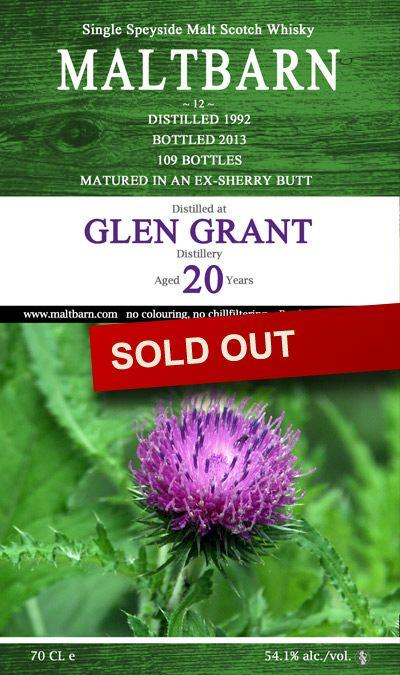 Maltbarn 12 – Glen Grant 20 Years
