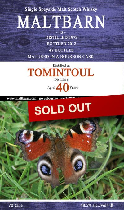 Maltbarn 15 – Tomintoul 40 Years
