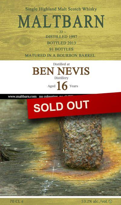 Maltbarn 22 – Ben Nevis 16 Years