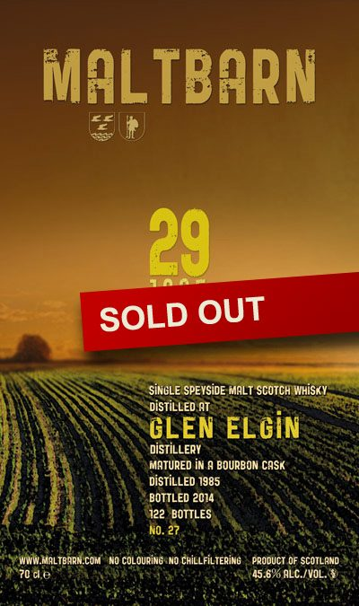 Maltbarn 27 – Glen Elgin 29 Years