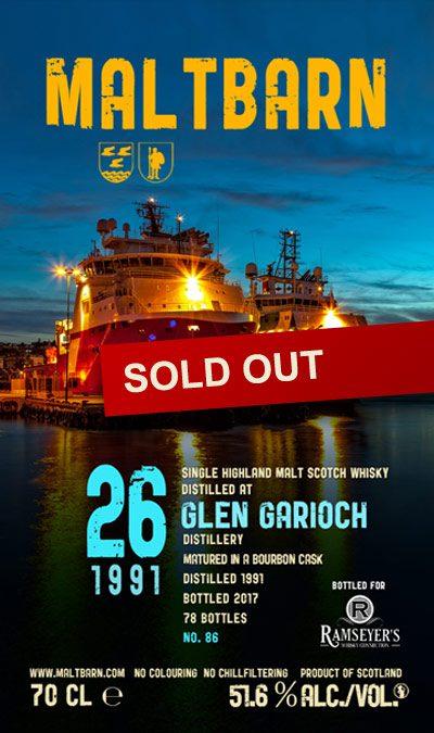 Maltbarn 86 –  Glen Garioch 26 Years